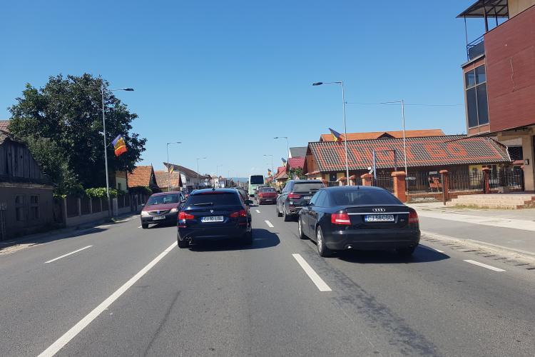 Ieșirea din Cluj spre zona de munte e blocată. Trebuie centura, nu studii nesfârșite - VIDEO