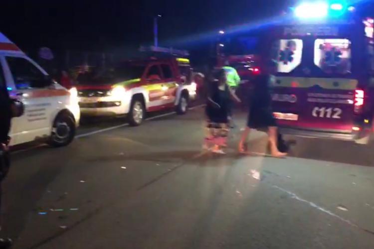 Accident mortal la Gherla. Un copil a murit și mai multe persoane sunt rănite - VIDEO
