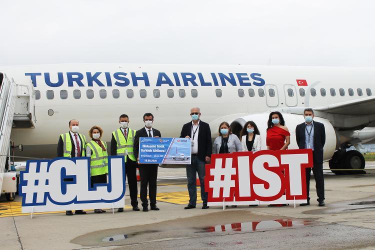 Se reiau zborurile Turkish Airlines de la Cluj-Napoca spre Istanbul