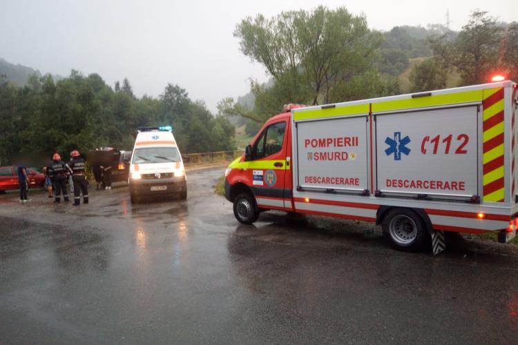 ATV rasturnat la Cluj. Șoferul și-a fracturat coloana - VIDEO