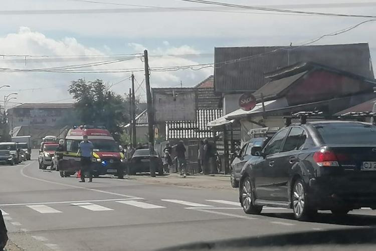 Accident în Apahida cu trei mașini - FOTO