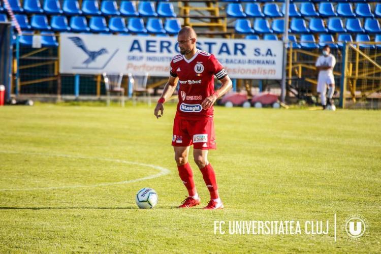 """Gabi Tamaș s-a """"rupt"""" în primul meci al U Cluj și va lipsi luni bune din echipă. Alt transfer eșuat"""