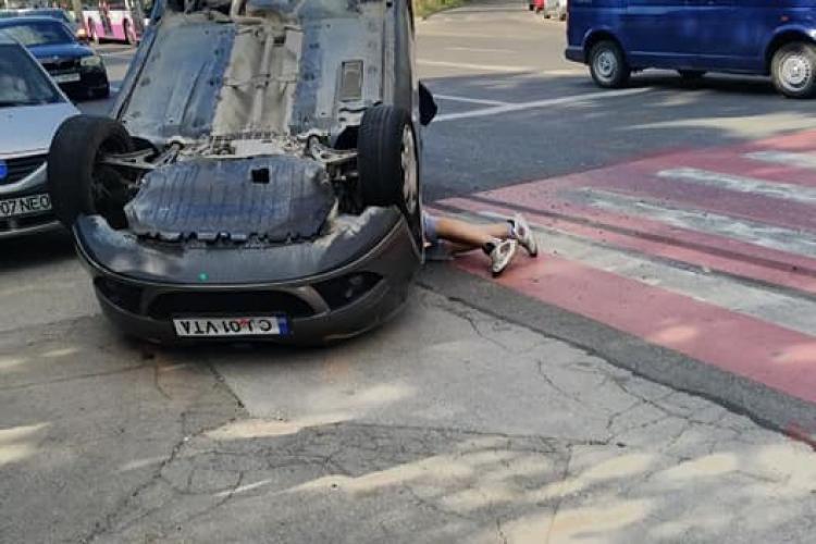 Accident lângă Colina, în Mănăștur - FOTO