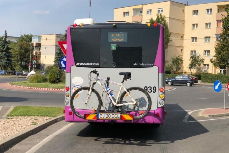 Cluj-Napoca: Autobuzele au suport pentru biciclete - FOTO