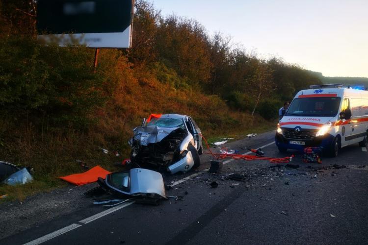 Accident mortal în Baciu, cauzat de o depășire periculoasă VIDEO