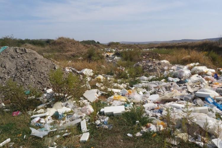 Groapă de gunoi clandestină între Centura Ocolitoare (prelungirea Bulevardului Muncii) și Râul Someșul Mic - VIDEO