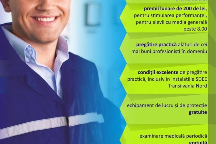 SDEE Transilvania Nord asigură burse elevilor de la Colegiul Tehnic Cluj-Napoca