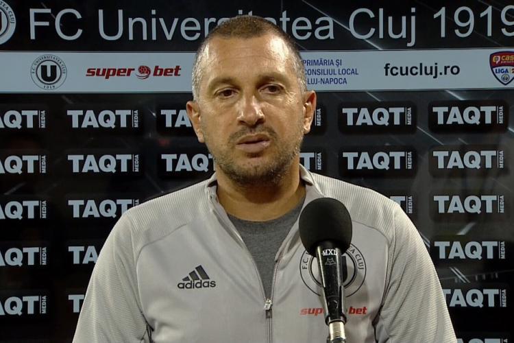 Victorie pentru U Cluj cu Costel Enache pe banca tehnică, în meciul cu Unirea Slobozia. Tehnicianul a fost modest