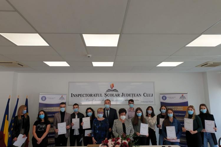 Cluj: Elevii de ZECE la Evaluare Națională și la BAC au fost premiați