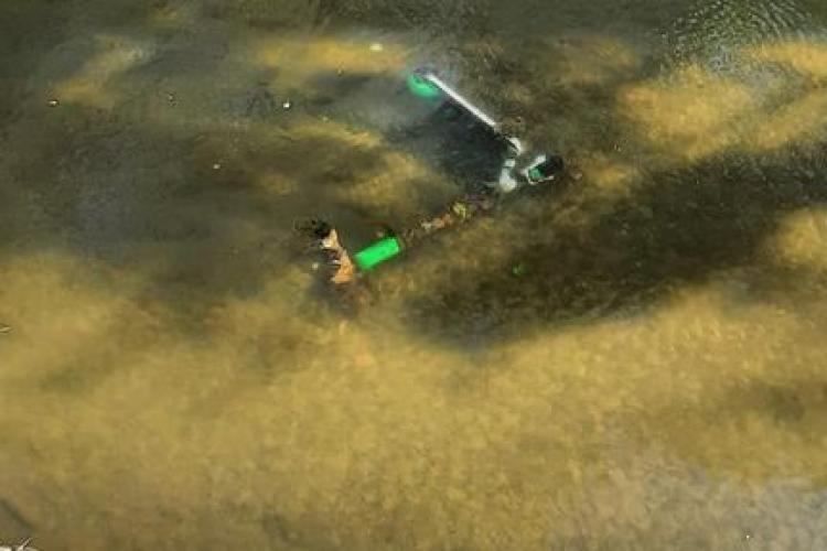 """Dar cu trotineta ce ați avut? Încă o """"victimă"""" aruncată în Canalul Morii - FOTO"""