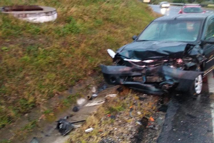 Accident la ieșire din Cluj-Napoca. SMURD -ul a acordat primul ajutor - FOTO
