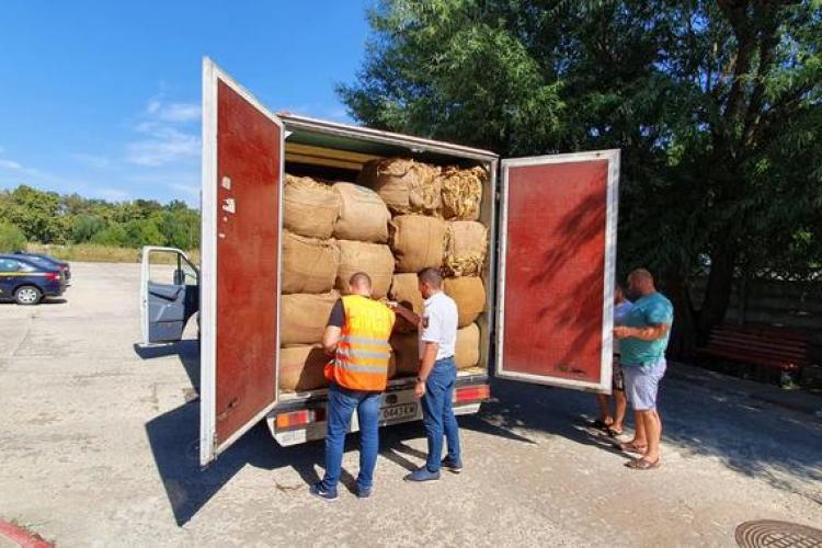 11,13 tone de tutun confiscate de inspectorii ANAF - Antifraudă