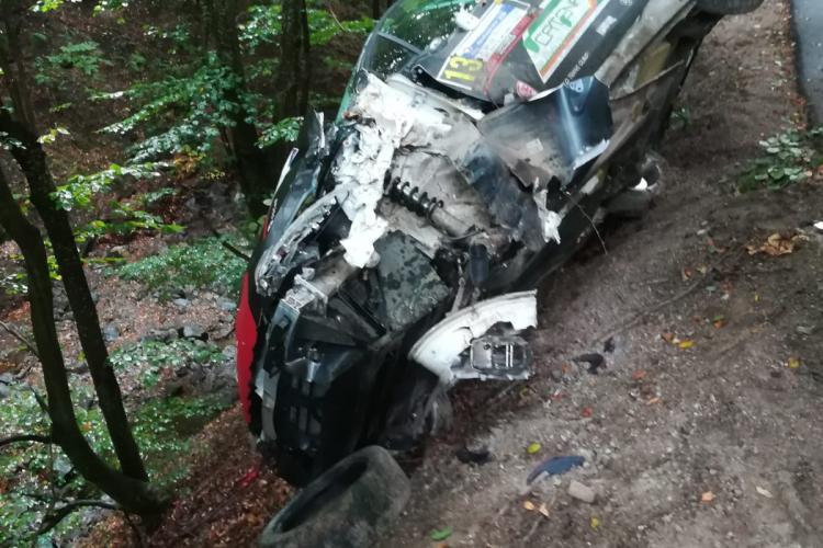 Accident la Transilvania Rally! Un pilot de curse a ajuns la spital FOTO