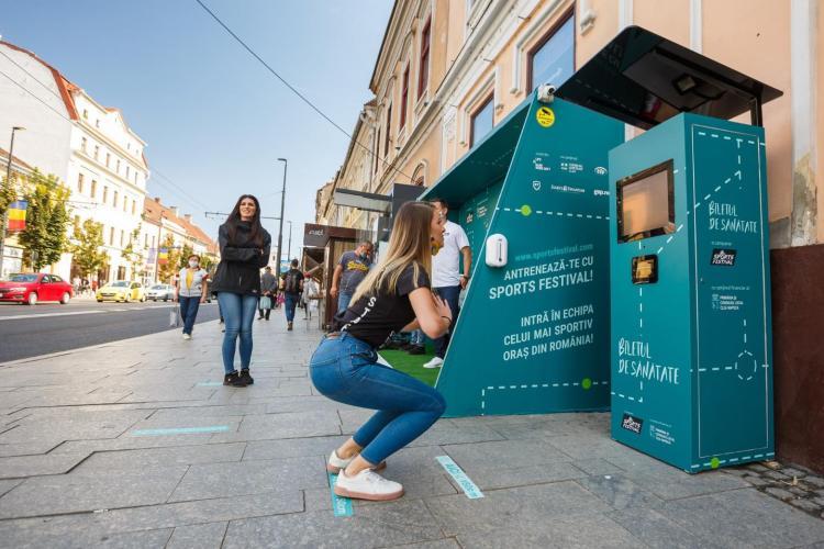 Clujenii care fac genuflexiuni vor primi bilete de călătorie gratuite până la finele anului - FOTO