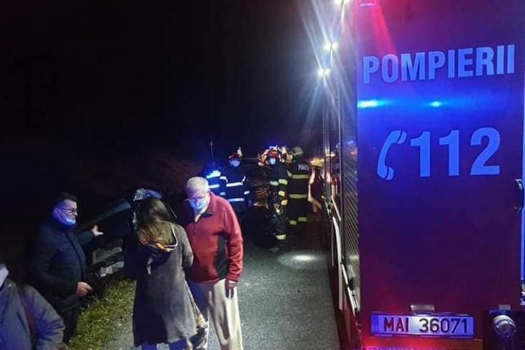 Pieton băut lovit de o mașină la Căianu-Vamă