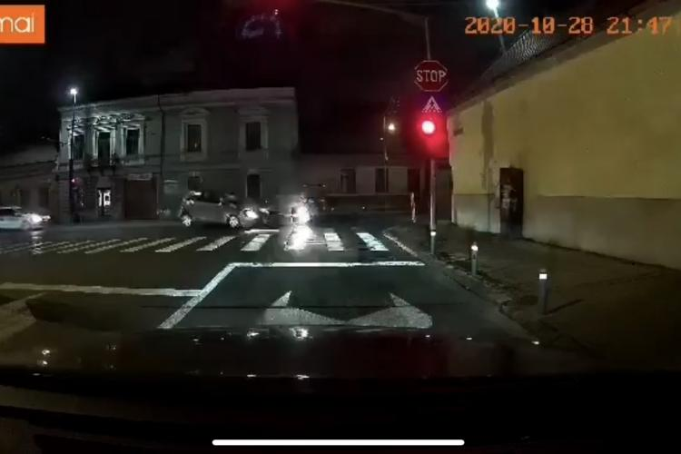 Accident filmat LIVE pe Moților VIDEO