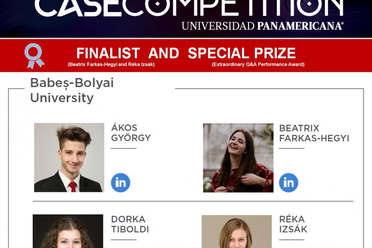 """Studenții UBB au ajuns în finala concursului """"Virtual Case Competition"""" și au câștigat premiul special"""
