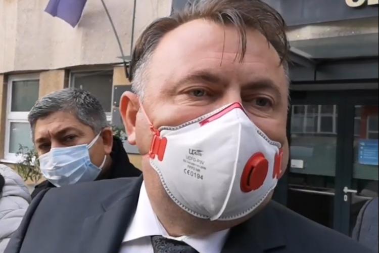 Ministrul Sănătății, la Cluj: Revin mereu cu plăcere la Spitalul de Boli Infecțioase. Ei sunt eroii, cei din linia I
