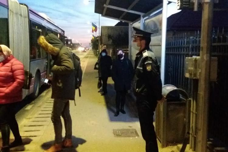 Peste 400 de clujeni amendați de polițiști pentru nepurtarea măștii de protecție FOTO