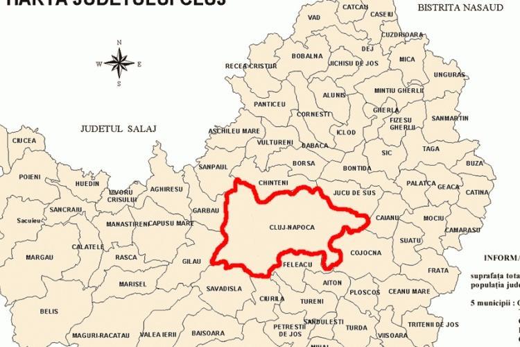 Cluj: Incidența infectării cu COVID-19 la mia de locuitori, în fiecare localitate în parte. Cifrele sunt pe ultimele 14 zile