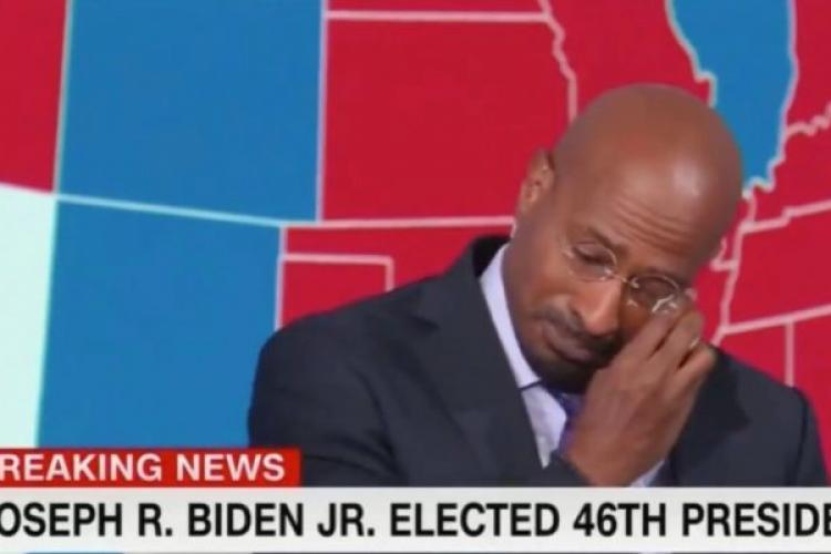 Un jurnalist CNN a izbucnit în lacrimi în direct după ce Joe Biden a câștigat alegerile prezidențiale din SUA VIDEO