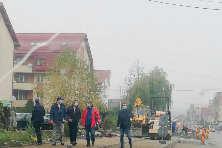 Lucrarea de pe strada Eroilor, din Florești, inspectată de noul primar, Bogdan Pivariu - FOTO