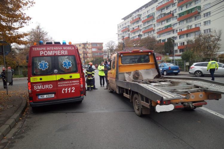 Pieton de 90 de ani lovit de mașină în Grigorescu. A ajuns la spital FOTO