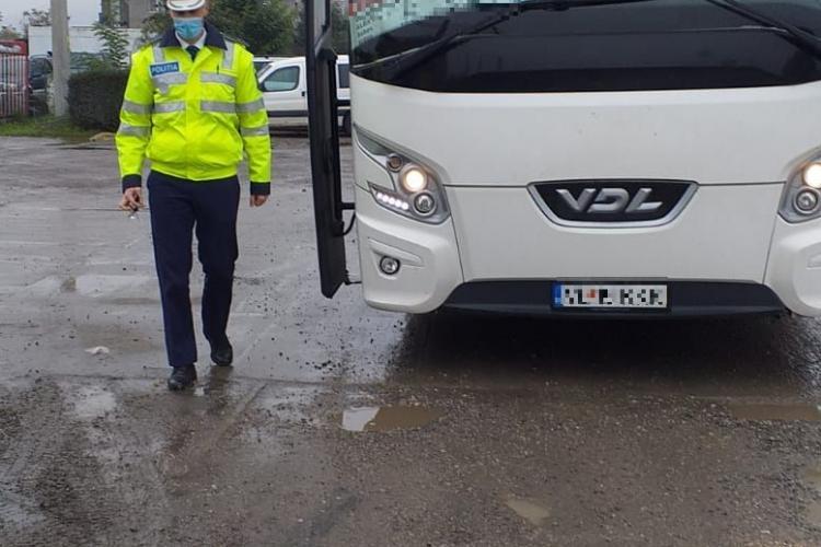 Razie în trafic la Vâlcele. Au fost vizate mijloacele de transport în comun FOTO