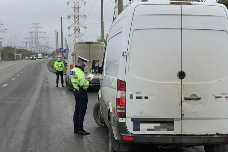 Razie în trafic la Cluj-Napoca! Au fost vizate mijloacele de transport persoane FOTO