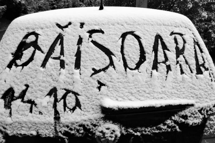 A nins la Băișoara! E prima ninsoare din an - FOTO