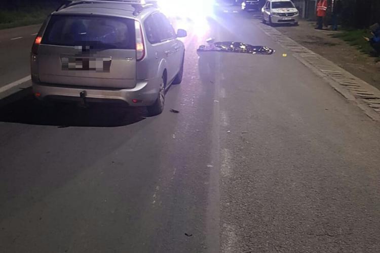 Accident mortal la Jucu. Un pieton a fost spulberat de mașină FOTO