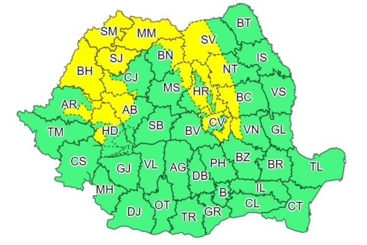 Cod galben de vijelii în mai multe județe din țară. Clujul este afectat