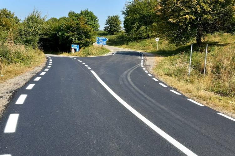 Zece drumuri județene din Cluj, modernizate integral în 2021