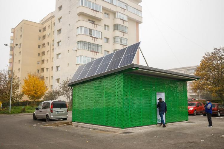 Premieră la Cluj-Napoca: Containere securizate cu 100 locuri pentru biciclete FOTO