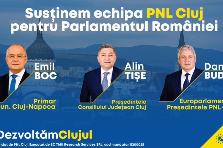 """Mesajul liderilor PNL Cluj pentru clujeni: """"Avem nevoie de sprijin din partea viitorilor deputați și senatori"""" (P)"""