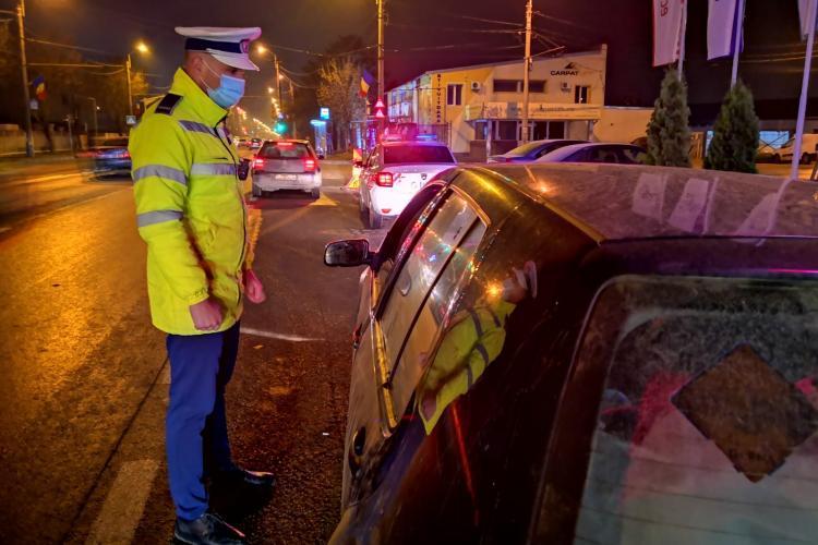 Razie în trafic a polițiștilor clujeni