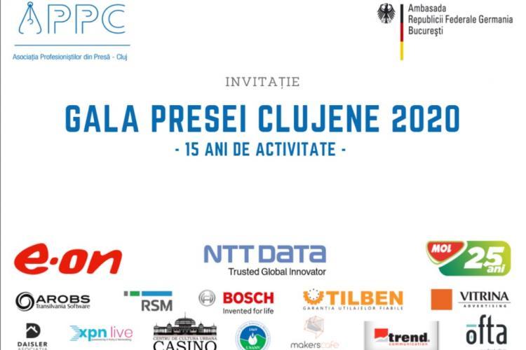 Gala Presei Clujene 2020, transmisă online. APPC va da premii și va lansa ediția aniversară a Anuarului