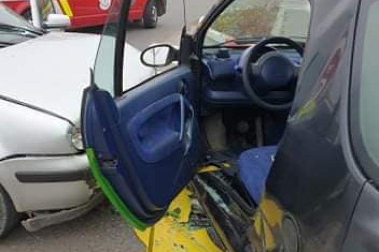 Accident în parcarea de la VIVO Cluj! - FOTO