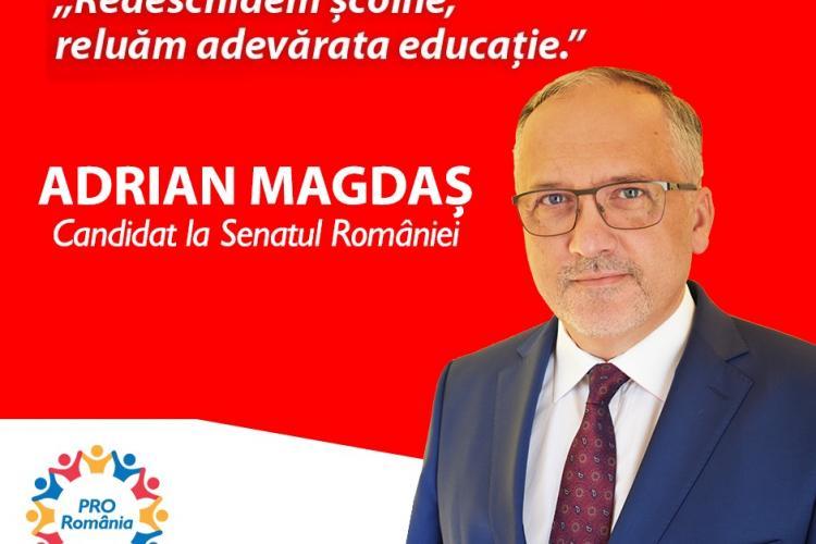 """Adrian Magdaș, PRO România: """"Trebuie să le redăm copiilor bucuria de a învăța!"""" (P)"""