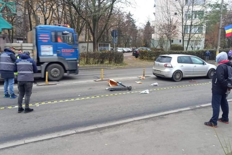 Clujean de 85 de ani lovit de mașină în Gheorgheni. Mergea pe trotinetă FOTO