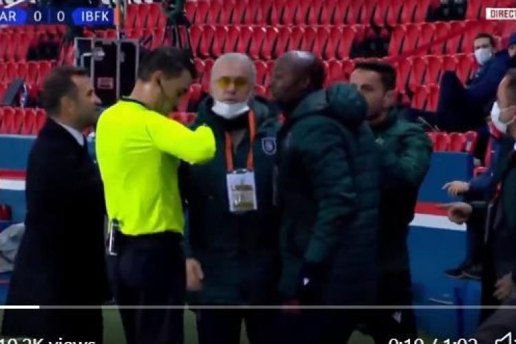 Scandal în meciul de Champions League dintre PSG și Istanbul, cauzat de arbitrii români. Jucătorii au ieșit de pe teren VIDEO