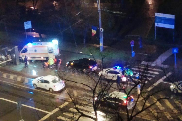 Accident în Mănăștur, la primele ore ale dimineții! Un pieton a fost lovit de mașină la Calvaria FOTO