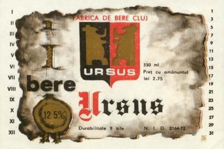 Etichete de bere produsă la Cluj în anii 1960 - 1970. Cine mai ține minte berea Napoca, Bizon, Clujana sau Someșul