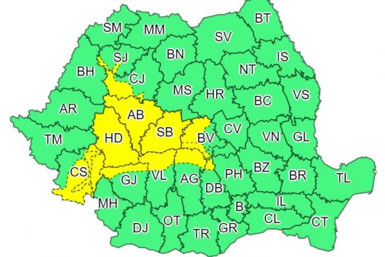 Meteo Cluj: Cod galben de NINSORI în mai multe județe. Clujul este afectat