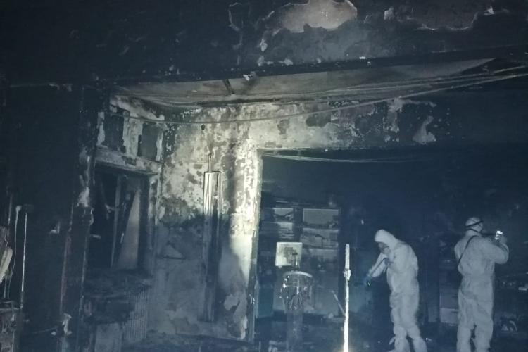 Imagini ZGUDUITOARE după incendiul de la Piatra Neamț, de la secția ATI - FOTO
