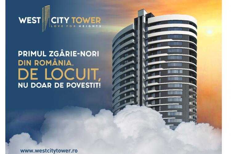 West City Tower privește cu mândrie spre vest. De la înălțimea celor 25 de etaje ale celui mai înalt bloc de locuințe din România (P)