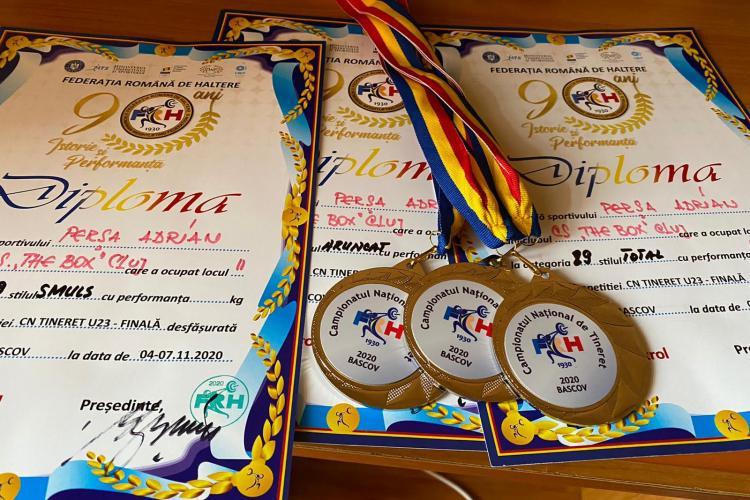 Halterofilii clujeni, medalii la  Campionatele Naționale de Haltere pentru Juniori și Tineret - FOTO