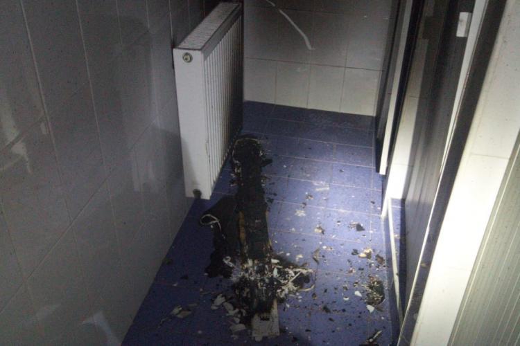 Incendiu la un spital din Cluj-Napoca. Pacienți evacuați la Spitalul CFR - FOTO