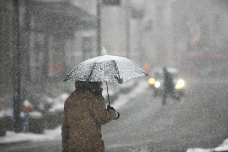 Avertisment de lapoviță și ninsori în aproape toată țara! Ce se anunță