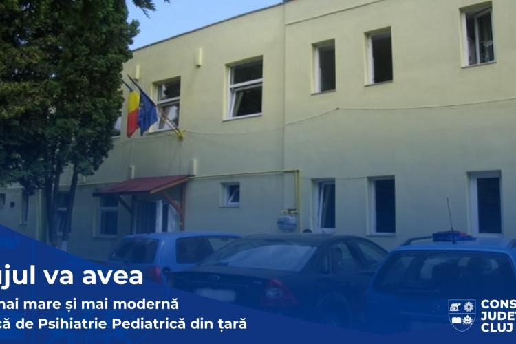 Clinica de Psihiatrie Pediatrică din Cluj, modernizată și extinsă prin fonduri europene